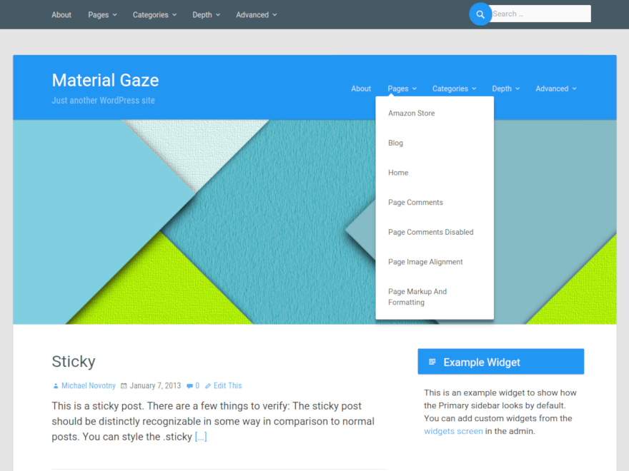 Theme Wordpress gratuit en Material design