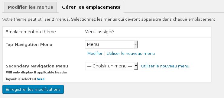Comment créer un menu personnalisé sous Wordpress