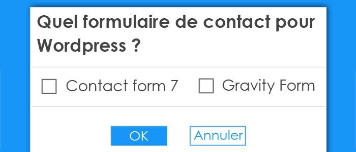 formulaire de contact pour wordpress