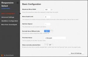 menu de navigation responsive