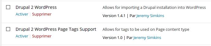 migration Drupal vers WordPress 2