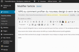 wordpress avec mp6
